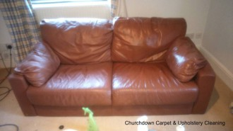 Leather cleaning restoration in Gloucestershire Gloucester Cheltenham Tewkesbury Stroud